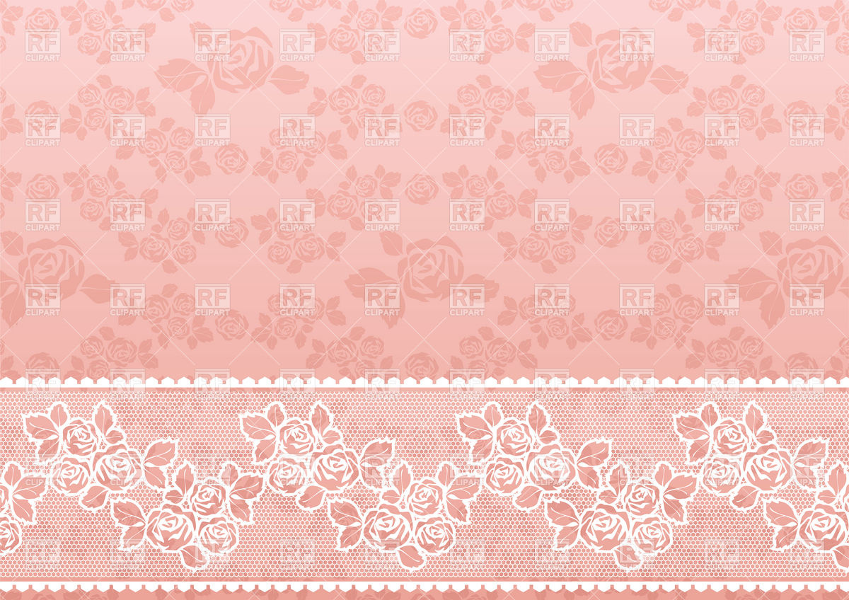 Download Lacy Pink Retro Wallpaper With Roses Backgrounds Textures