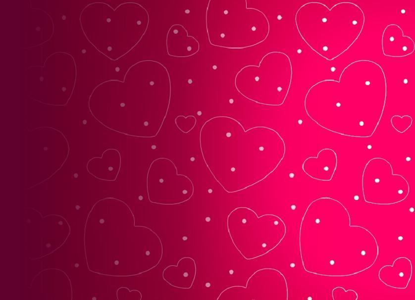 Nice Valentine Hearts Wallpaper Background 838x606