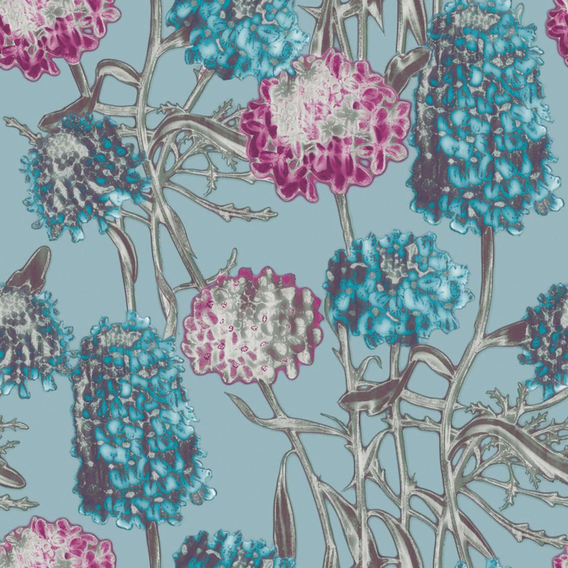Hydrangea Azure Removable Wallpaper 800x800