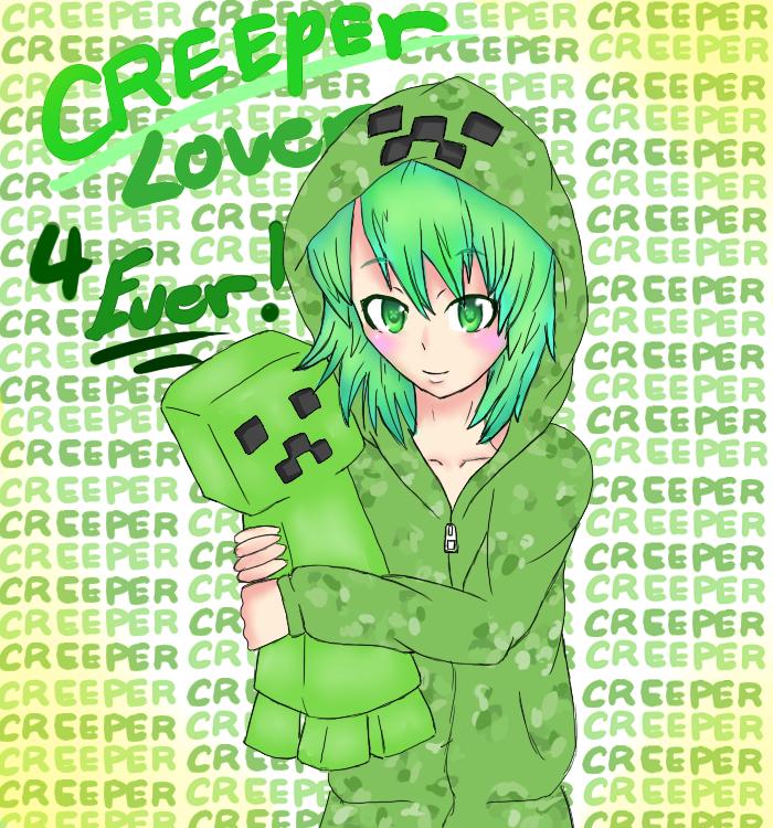 48 Minecraft Creeper Girl Wallpaper On Wallpapersafari