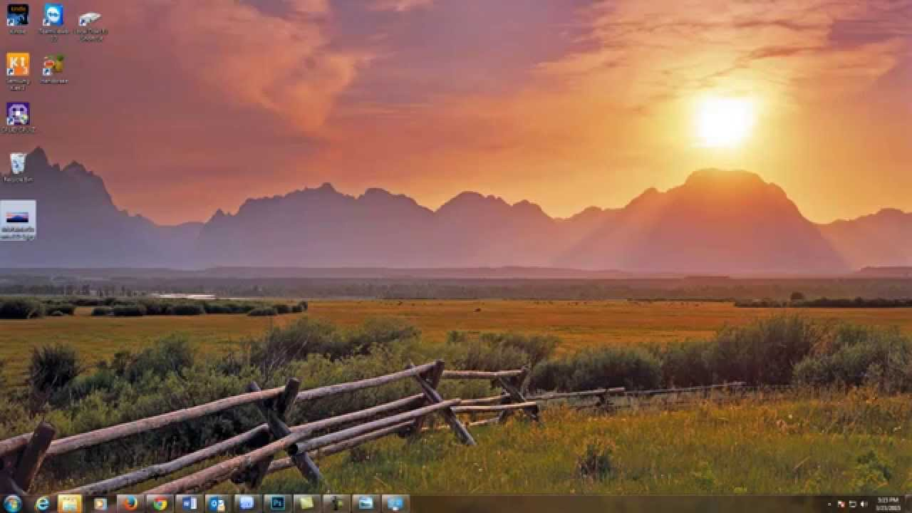 How to change windows 7 desktop background 1280x720