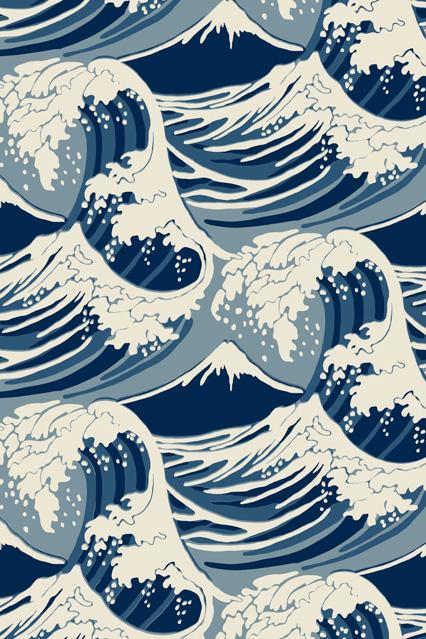 46 Great Wave Wallpaper On Wallpapersafari