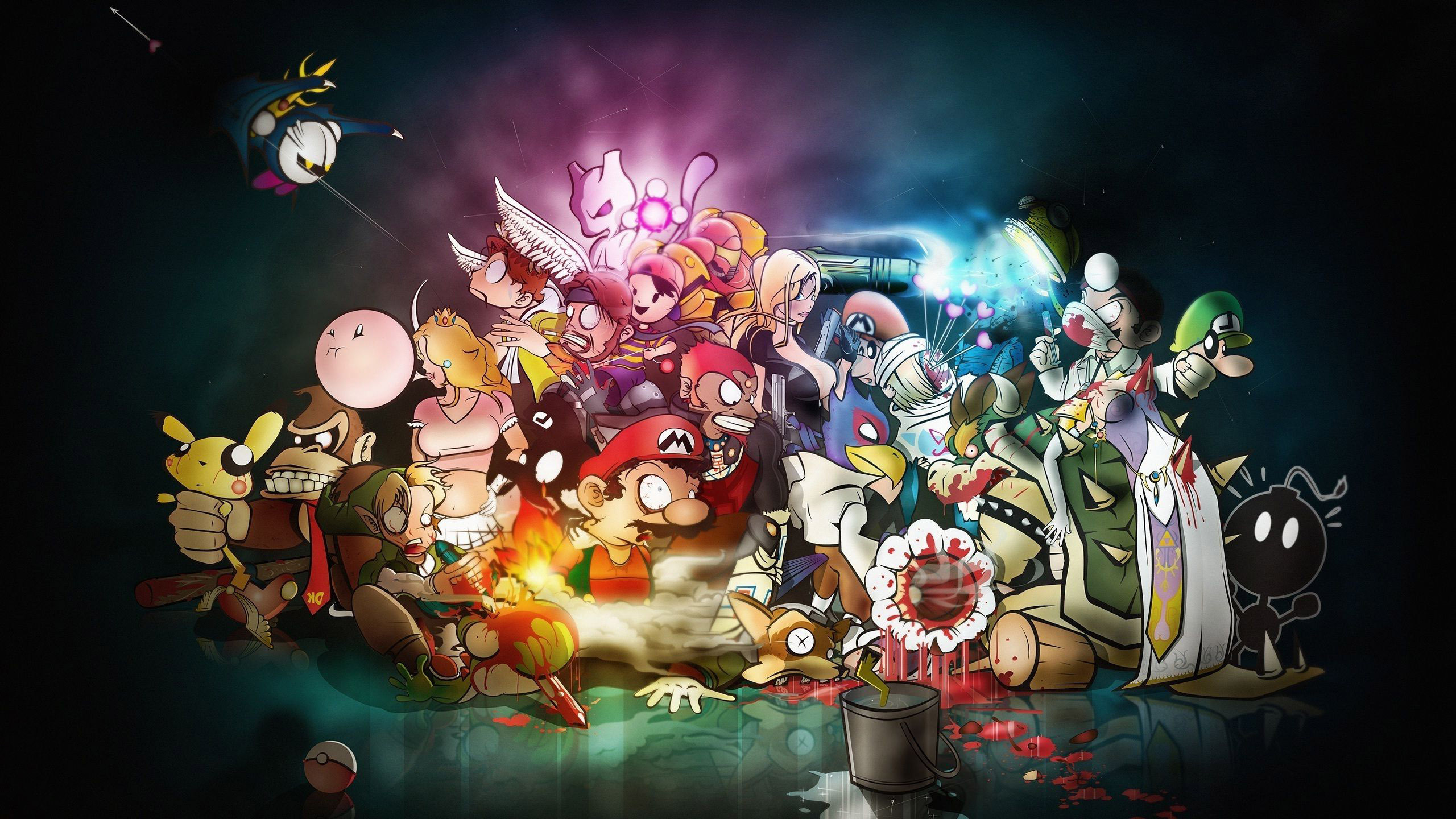 Video game characters Widescreen Wallpaper   6839 2560x1440