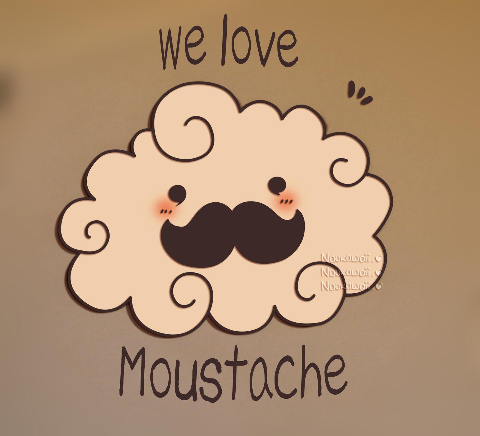 Cute Wallpapers Tumblr Mustache Moustache Cloud By Naokawaii 1600x1454