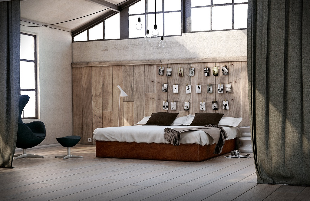 Via XM StudioRustic wood paneling forms a cozy backdrop and looks 1024x664