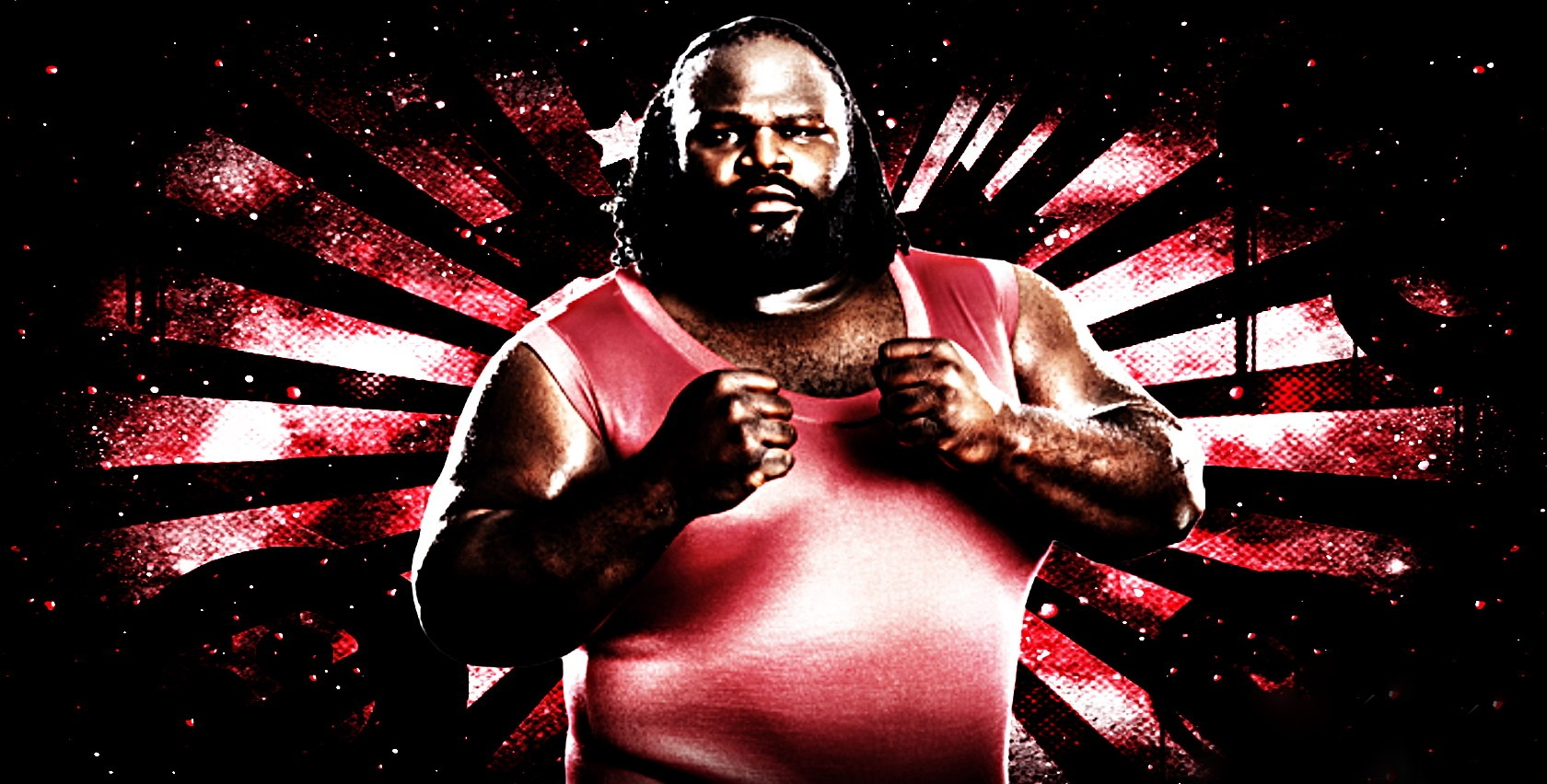 Dark WWE Wrestler Mark Henry Wallpaper 1680x852