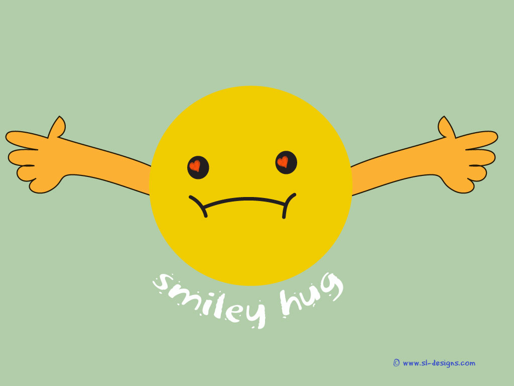 Cute Smileys Wallpapers With Quotes Smiley hug on 1024x768