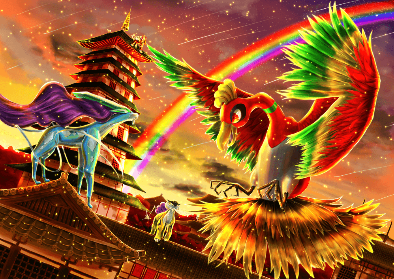Ho Oh Wallpapers   Top Ho Oh Backgrounds   WallpaperAccess 1366x969
