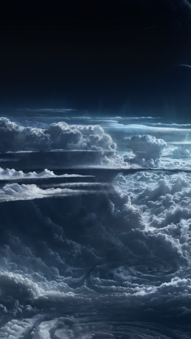 Wallpaper Sky 5k 4k wallpaper clouds planet light atmosphere 640x1138