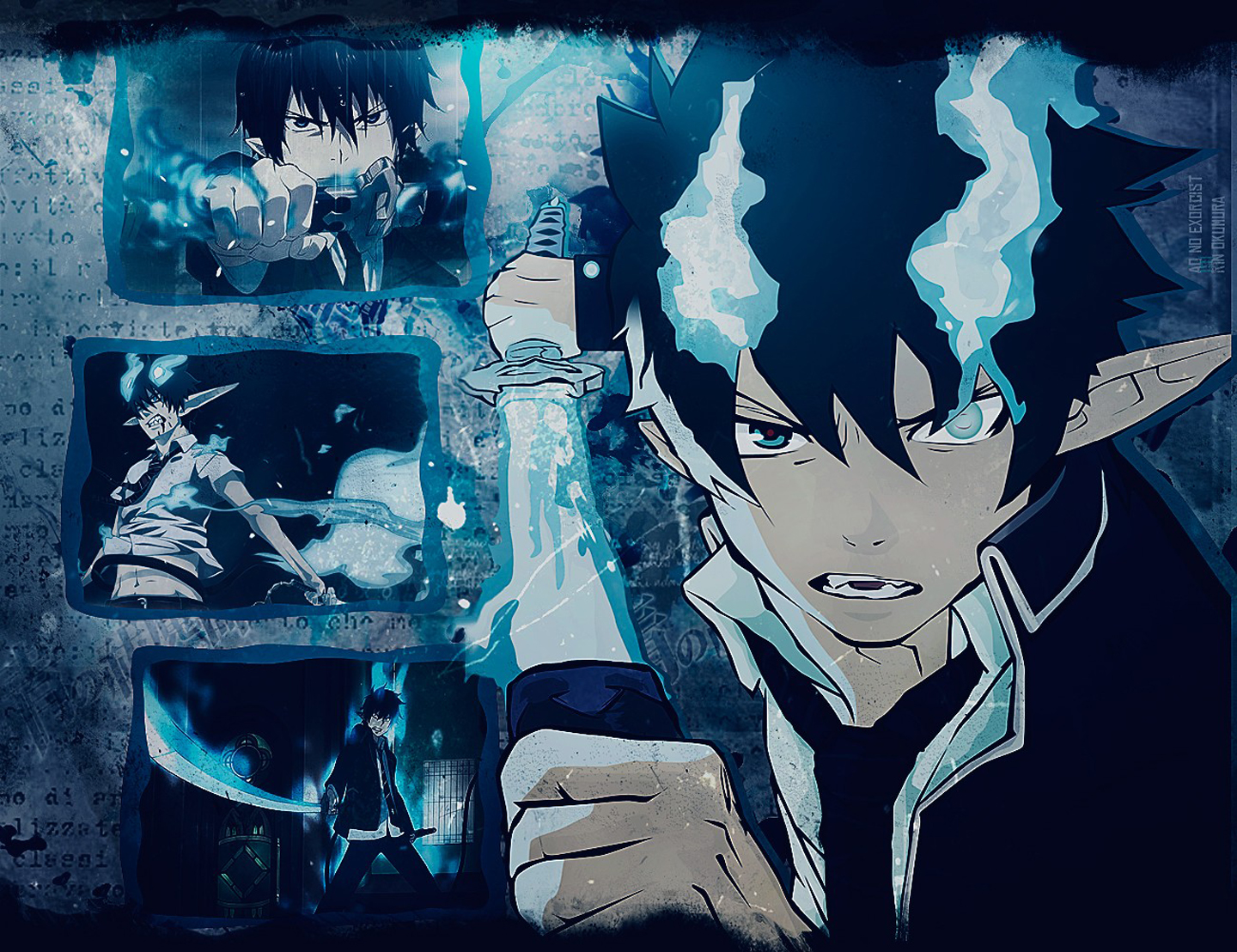 Free Download Rin Okumura Ao No Exorcist Demon Katana Blue Flame