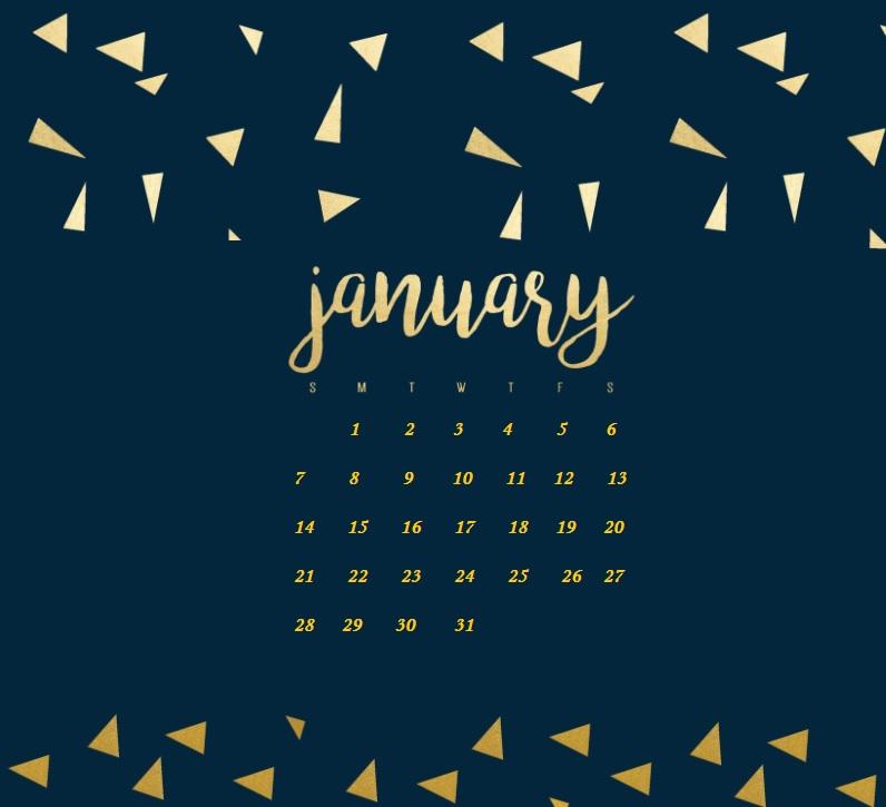 January 2018 HD Calendar Calendar 2018 796x725