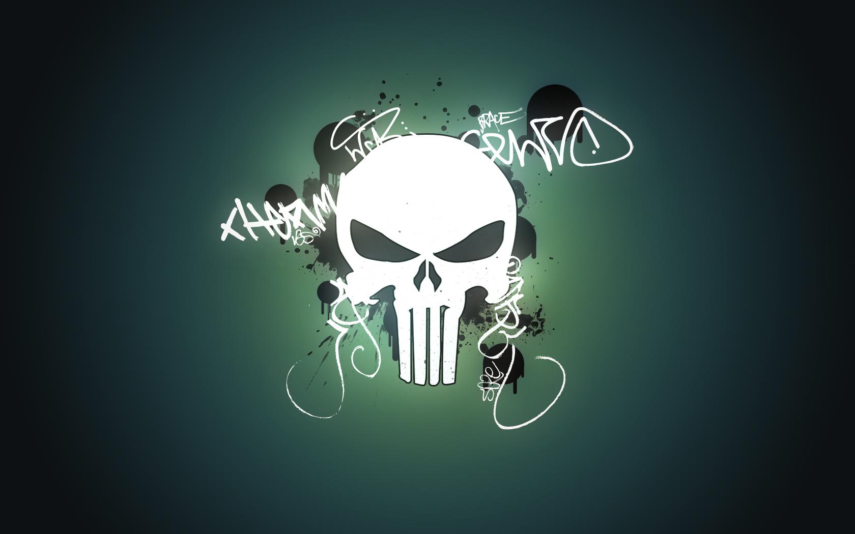 Punisher logo wallpaper Wallpaper Wide HD 1680x1050