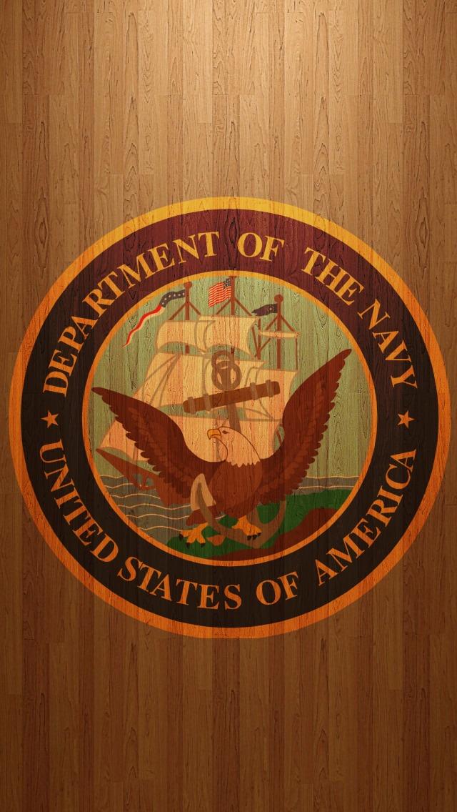 US Navy logo iPhone 5 Wallpaper 640x1136 640x1136