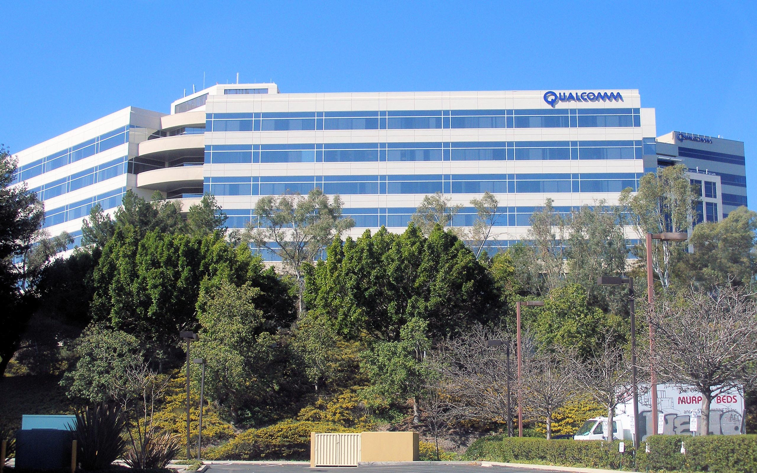 Wallpaper company qualcomm headquartered san diego california usa 2560x1600