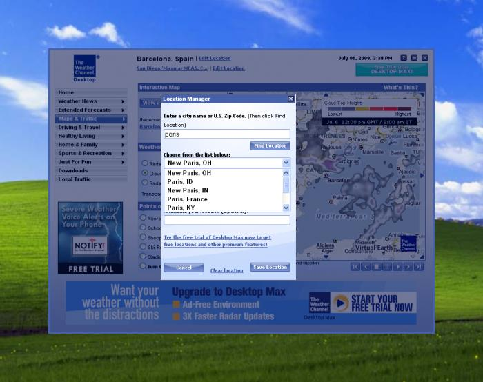 Weather Channel Desktop 700x554