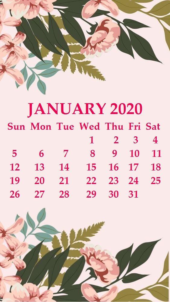 iPhone January 2020 Calendar Wallpaper january january2020 564x1001
