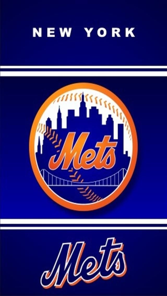 New York Mets 3 LOGO iPhone Wallpapers iPhone 5s4s3G Wallpapers 640x1136