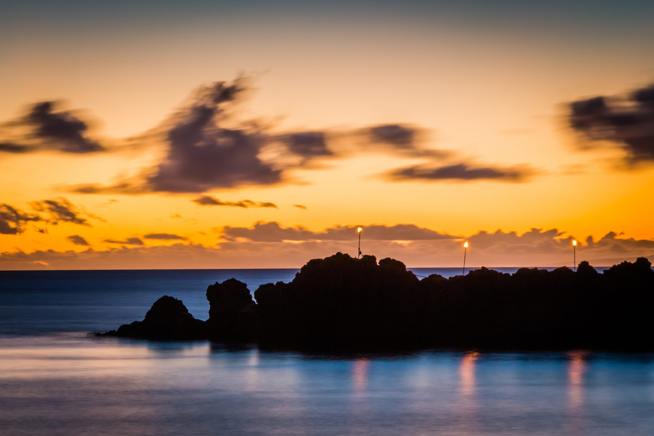 HD Wallpaper Black Rock sunset Kaanapali Beach Maui 2200x1466