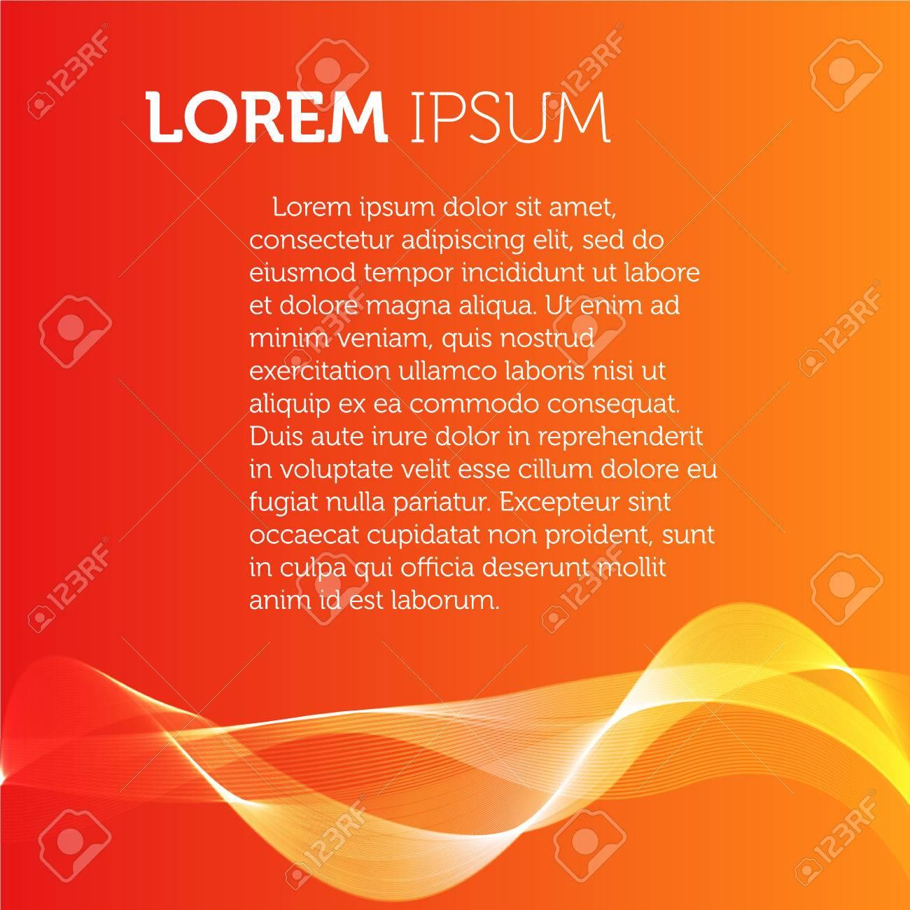 Orange Color Background Transparent Wavy Element Brochure Flyer 1300x1300