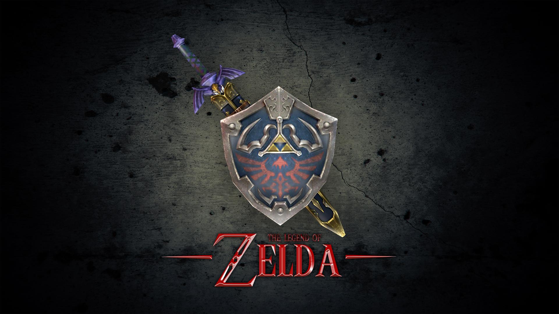 The Legends Of Zelda Swords Logo HD Wallpapers 1080x1920Px XzmUQc13 1920x1080