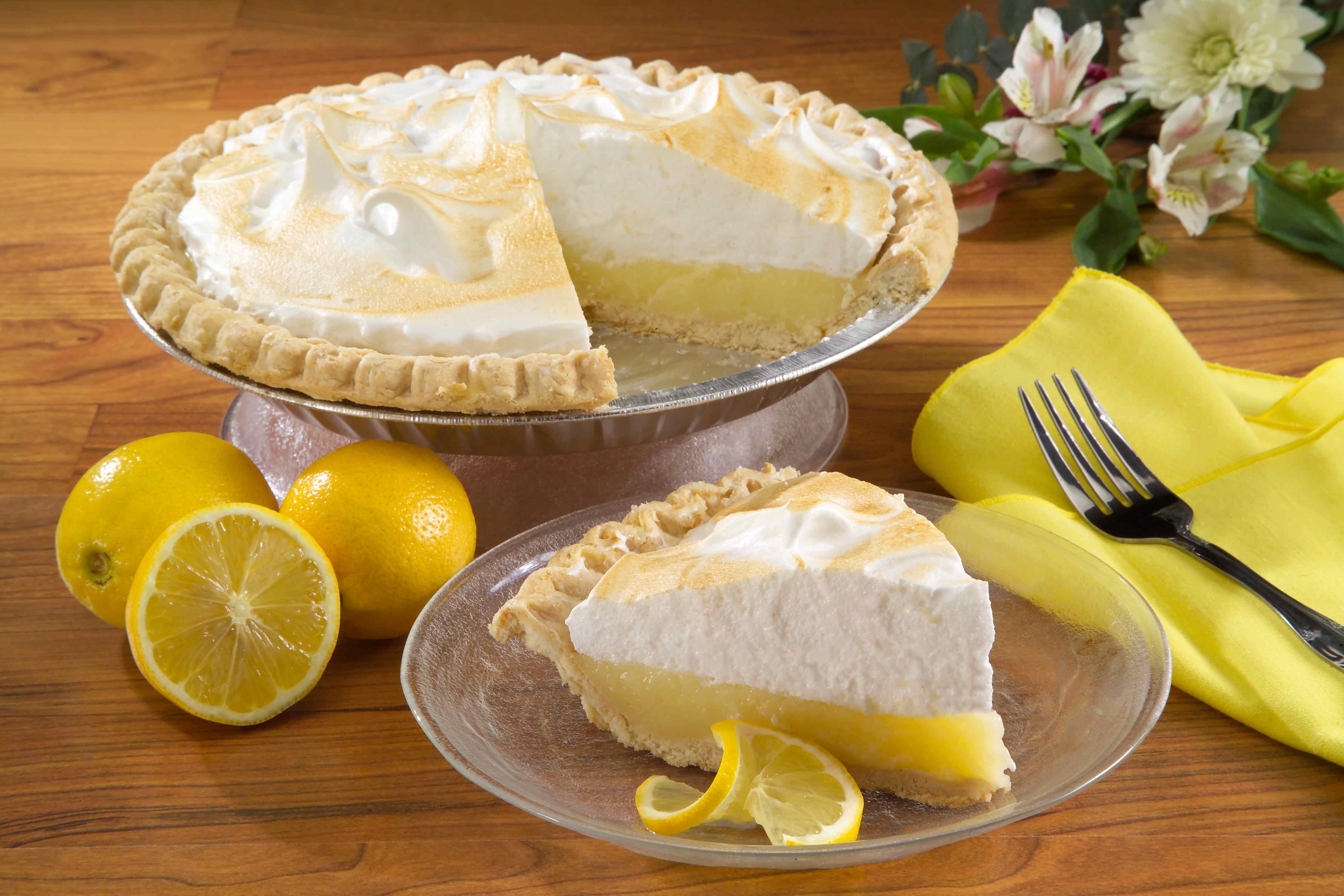 Lemon Meringue Pie 4k Ultra HD Wallpaper Background Image 4500x3000