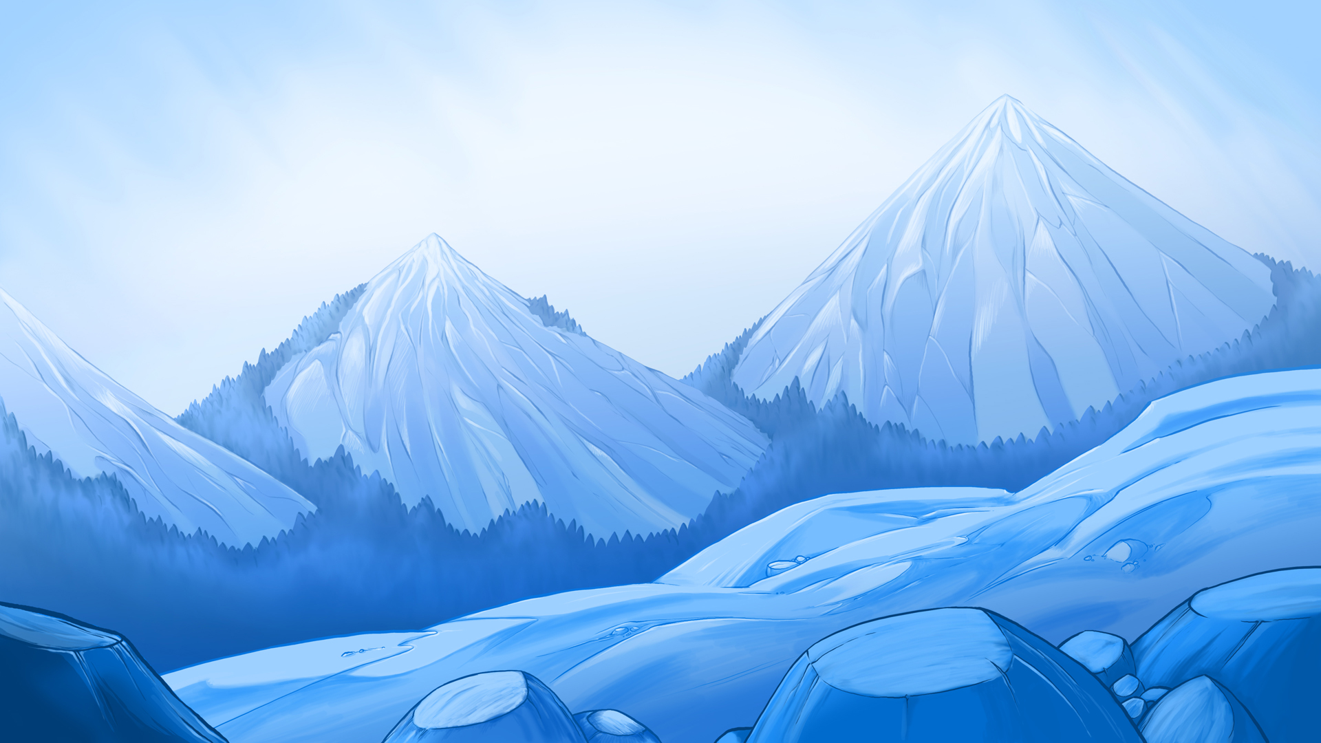 illustration backgrounds desktop camping andrew chesworth 1920x1080