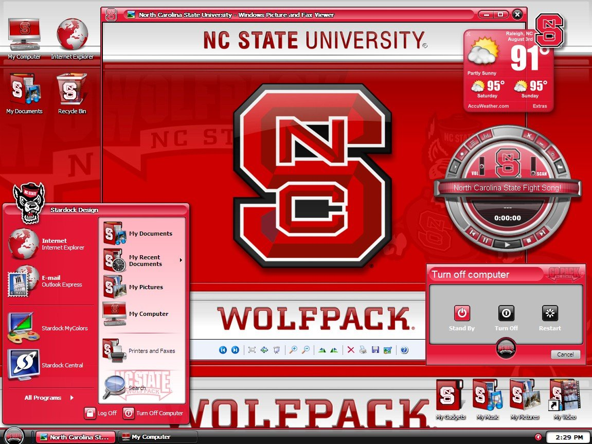 MyColors North Carolina State University Desktop Screenshot 1 of 4 1151x863