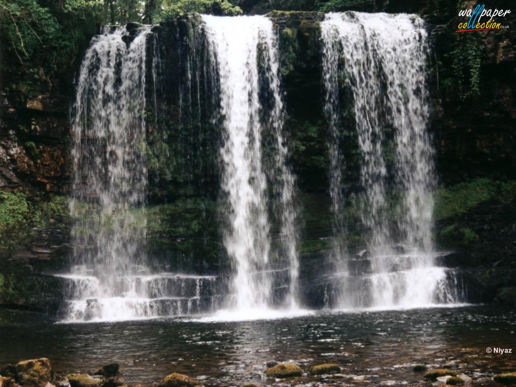 Waterfalls Wallpaper Desktop Themes and Screensavers Mountains 1024x768