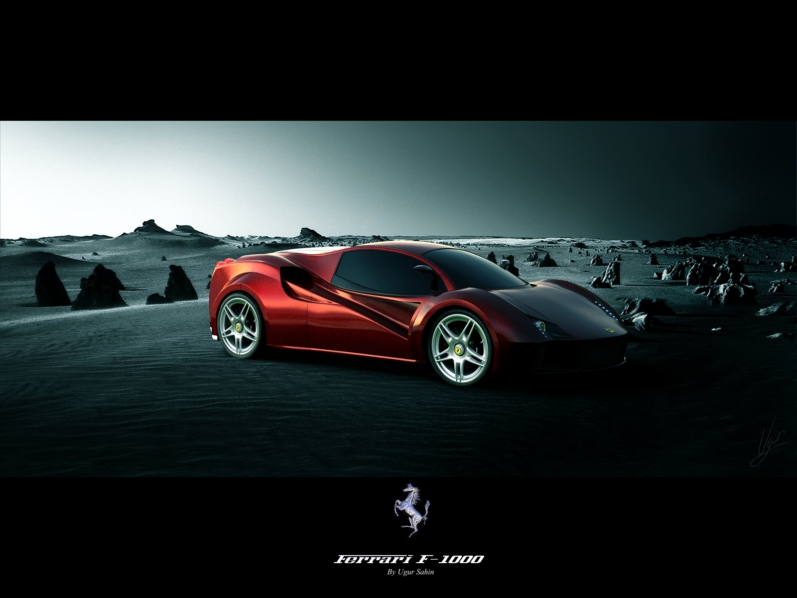 Ferrari F 1000 Concept Wallpapers that were created in 3D 1600x1200