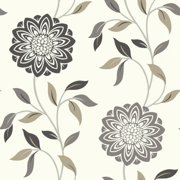 Wallpaper Fine Decor Fine Decor Chloe Wallpaper Grey Beige 600x600