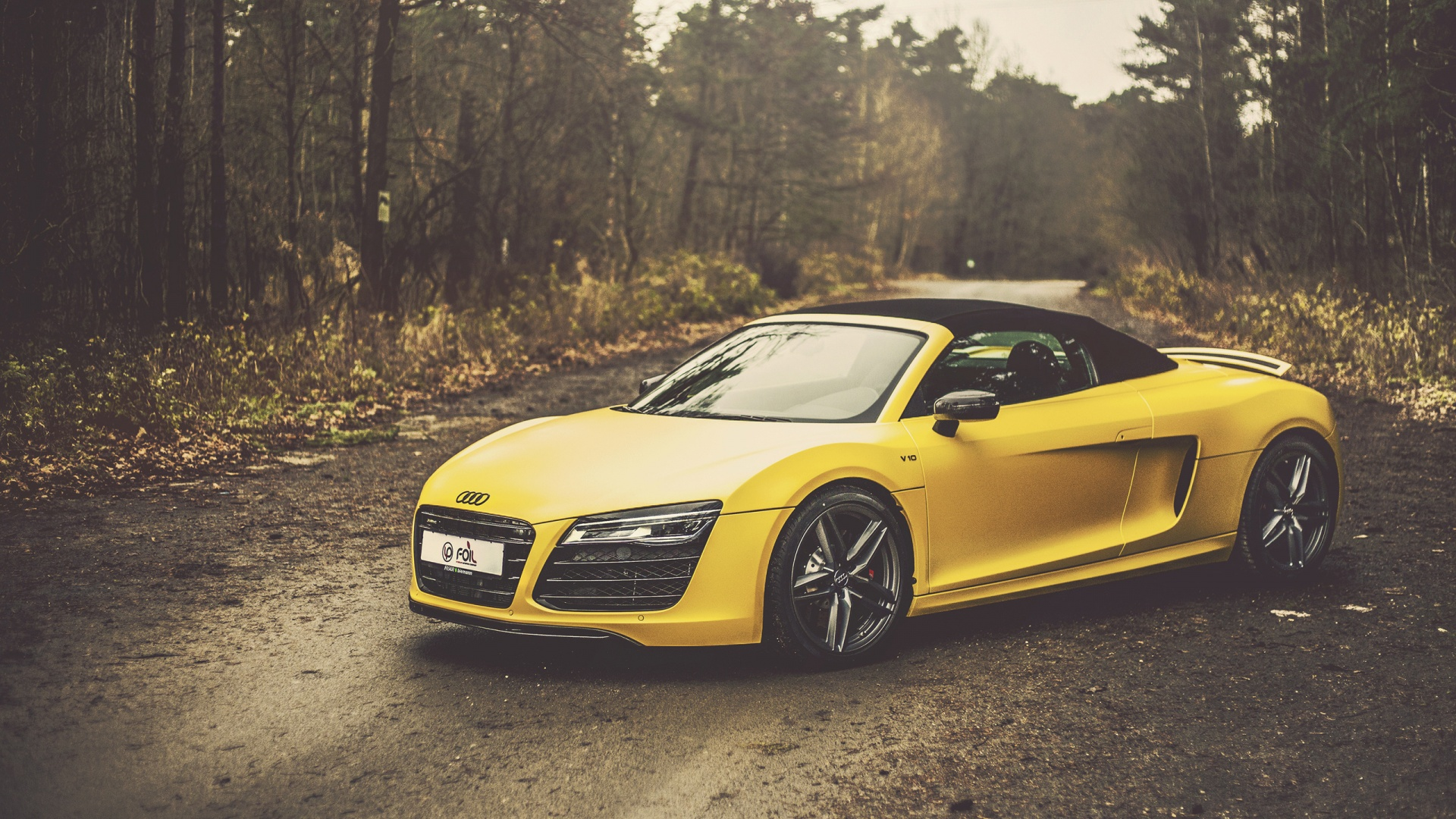 Yellow Audi R8 V10 Spyder Wallpapers   1920x1080   853664 1920x1080