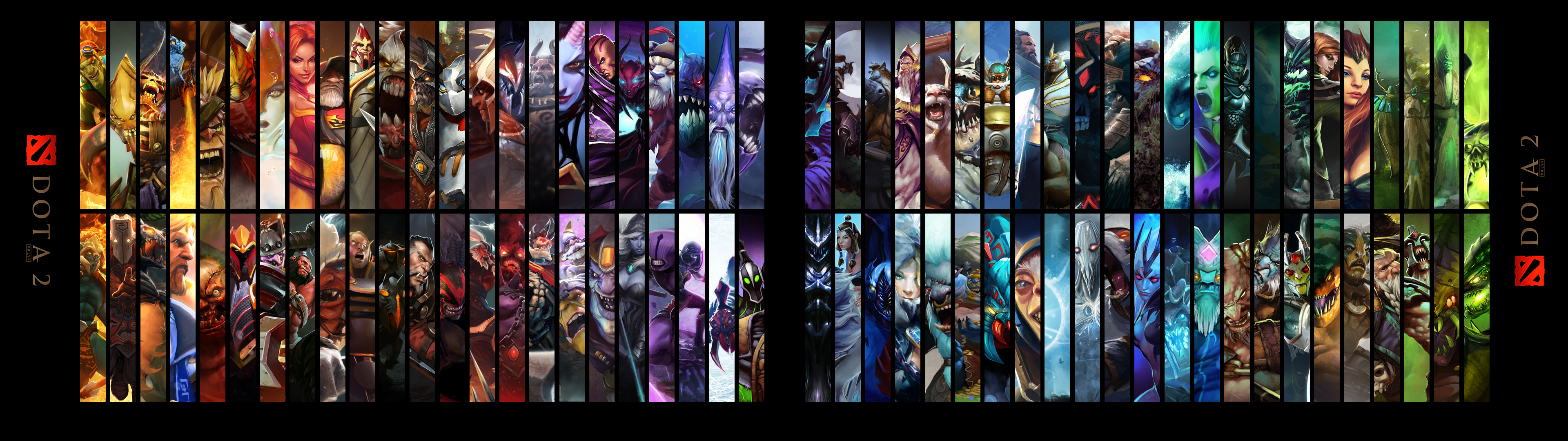 Dota 2 Heroes Dual Monitors Wallpaper Dota 2 HD Wallpapers 3840x1080