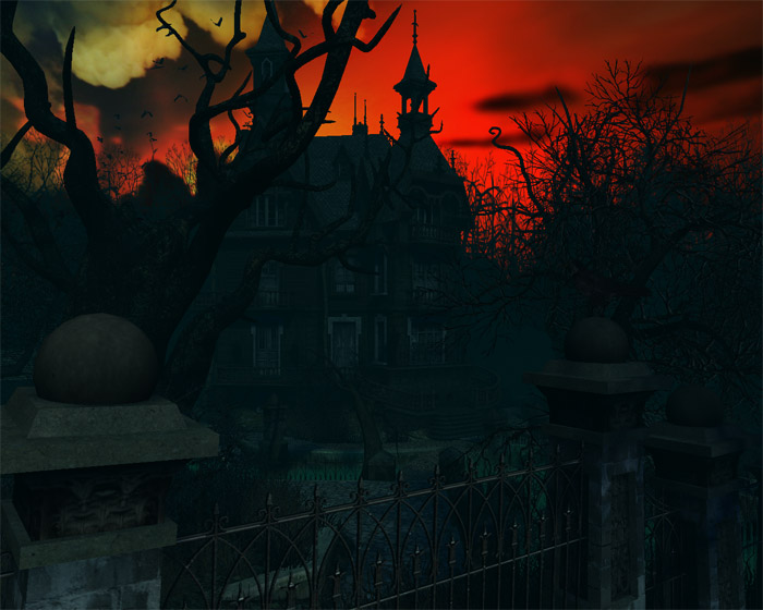 Haunted House 3D Screensaver   Download 700x560