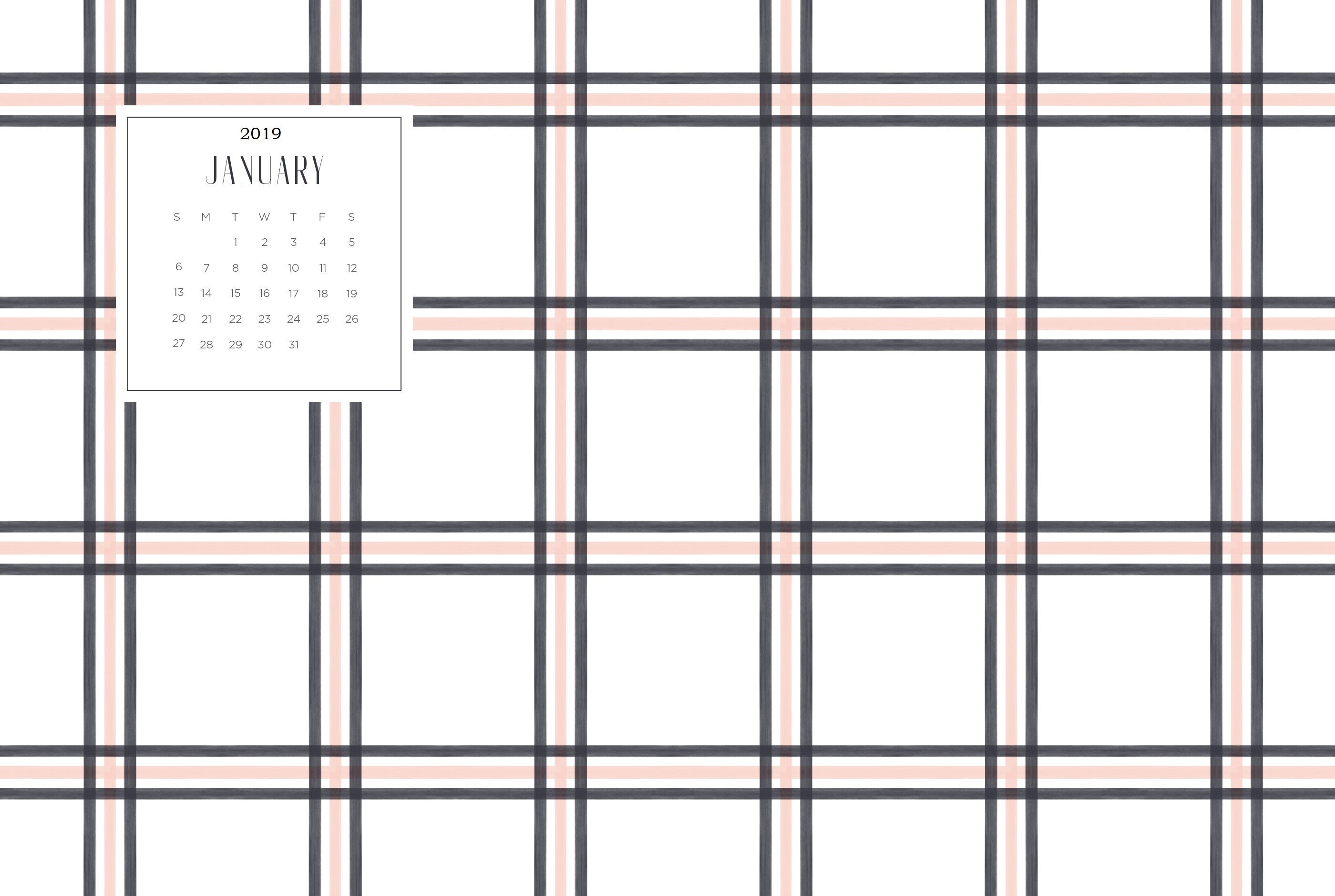 January 2019 HD Calendar Wallpapers Calendar 2019 2800x1880