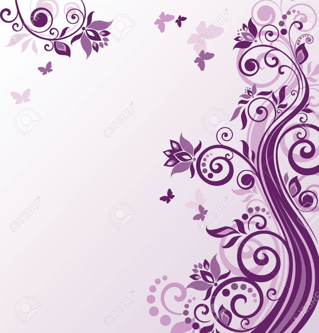 Floral Violet Background Royalty Cliparts Vectors And Stock 1245x1300