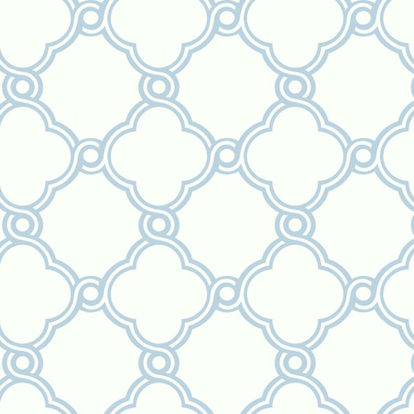 Light Blue with White Open Trellis Wallpaper   Wall Sticker Outlet 600x600