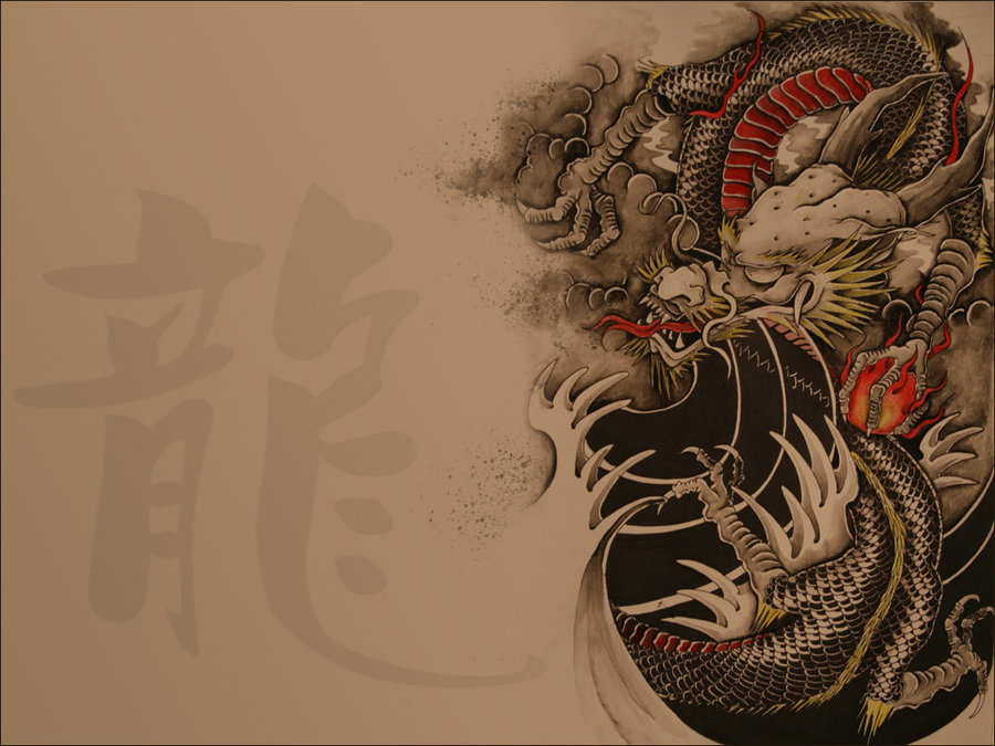 Chinese Dragon Wallpaper by SIMIXCROW 900x675