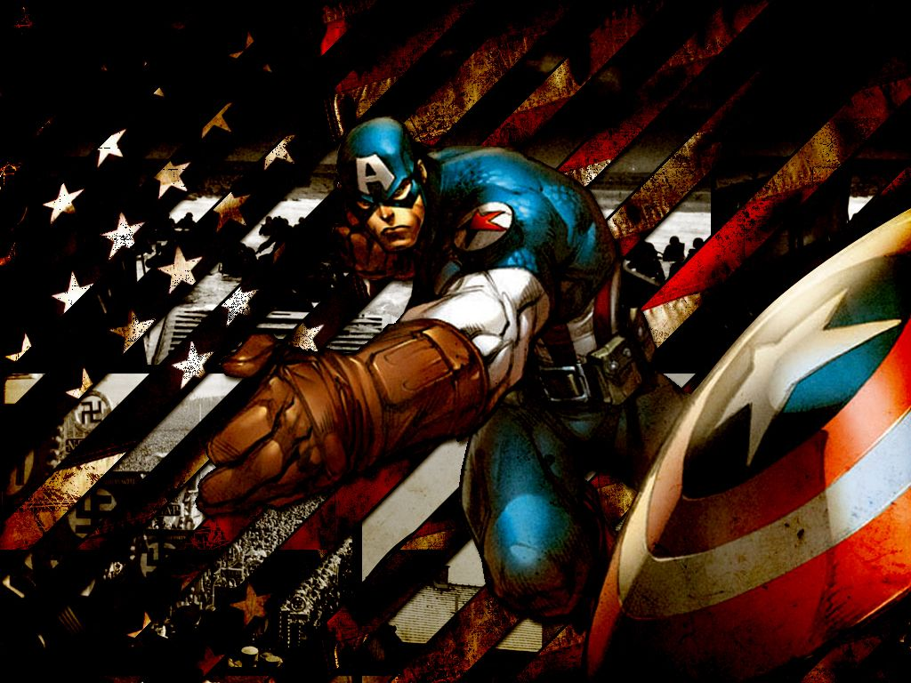 Captain America Throwing His Shield Zoom Comics Daily Comic Book 1024x768