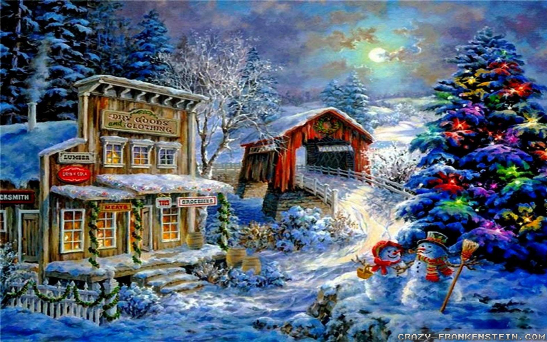Download Winter Scene Wallpaper Gallery 1920x1200 1920x1200