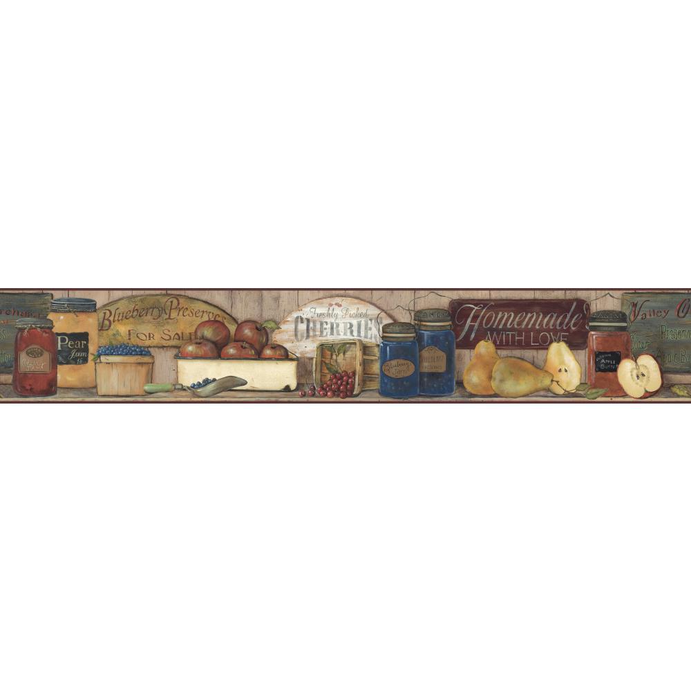 Country Preserves and Jams Wallpaper Border CB5514BDB   Wallpaper 1000x1000