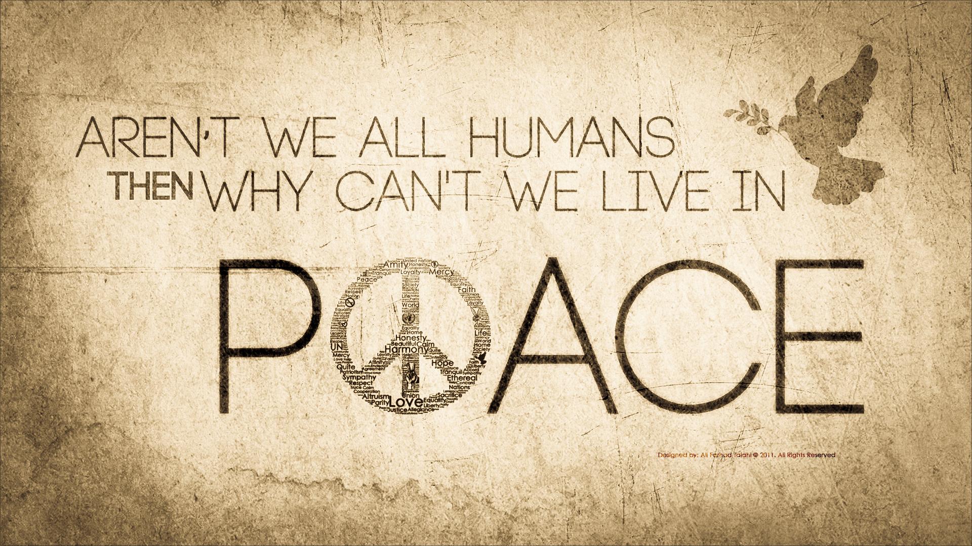 Pics Photos   Peace Paz Art Wallpaper Download 1920x1080