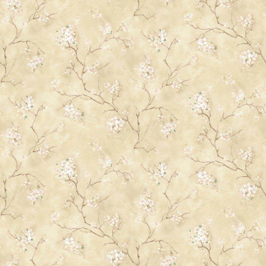 Floral Trail Beige Peelable Vinyl Prepasted Wallpaper Lowes Canada 900x900