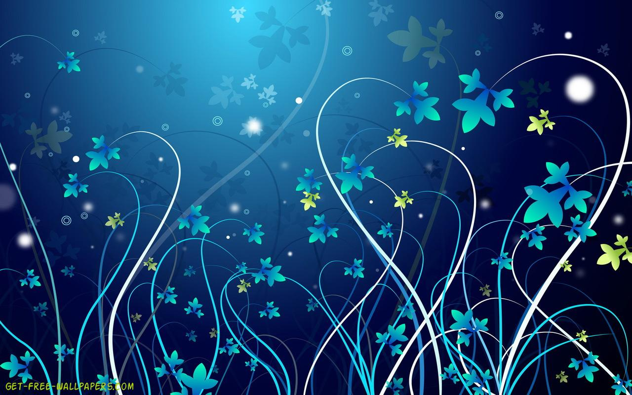Download pretty blue vines Wallpaper 1280x800