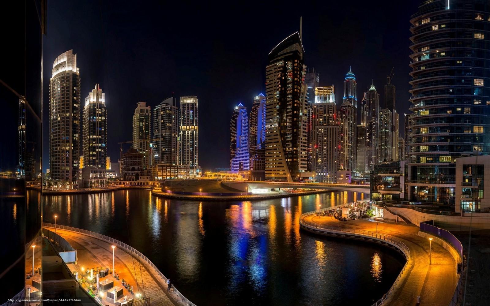 Download wallpaper Dubai dubai UAE city desktop wallpaper in 1600x1000