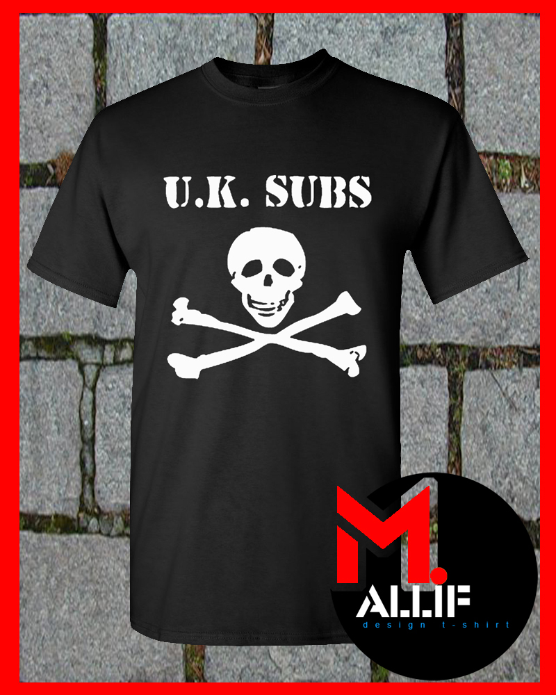 Subs Skull And Bones Logo UK Punk Rock T Shirt EI09   T Shirts 800x1000