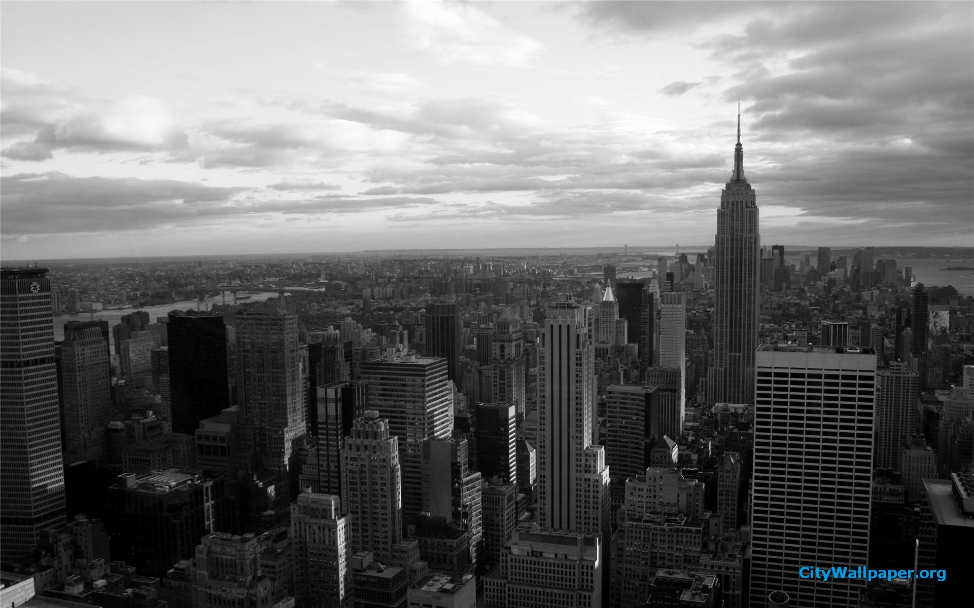 Free Download Black And White New York Wallpaper Widescreen Hd