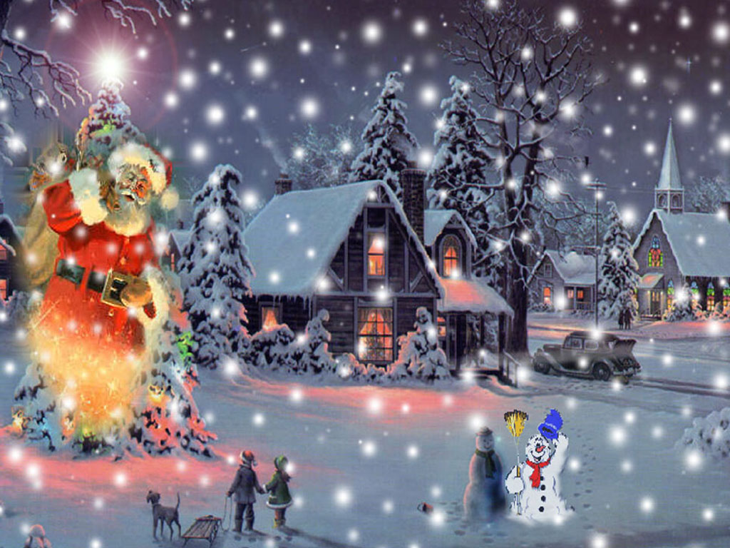 free animated christmas wallpaper for desktop 1024x768