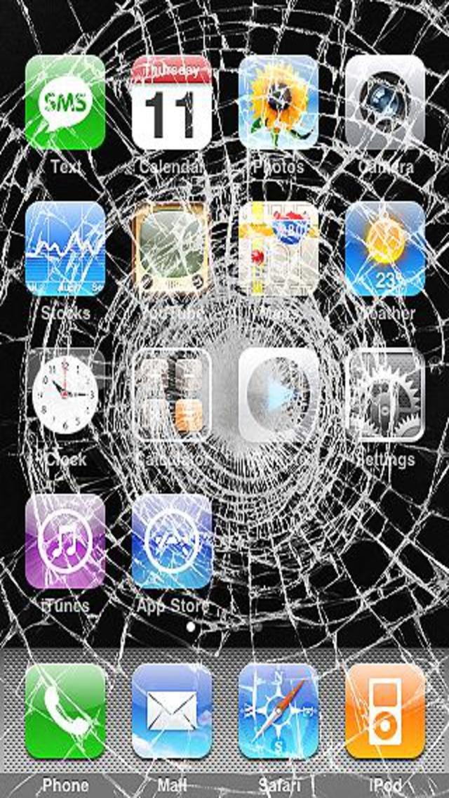 Creative broken iPhone screen iPhone Wallpapers Design iPhone 640x1136