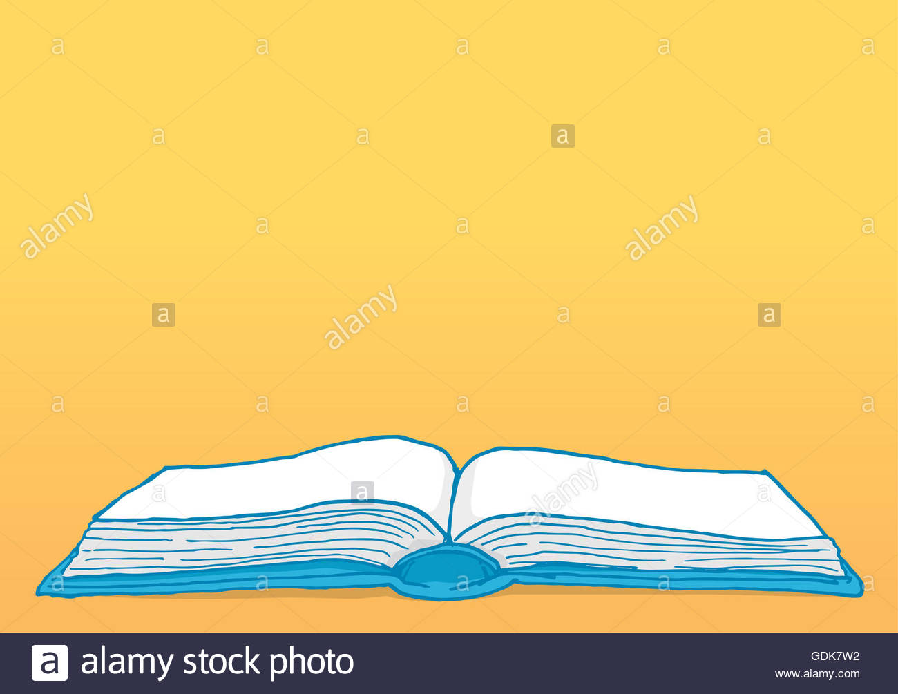 Cartoon illustration education background with blank open book 1300x1005