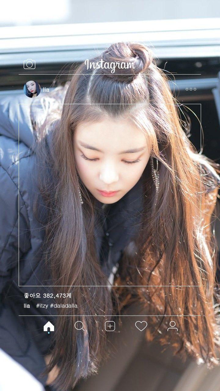 Itzy Lia Wallpaper Cabelo Feminino Coreana 720x1280